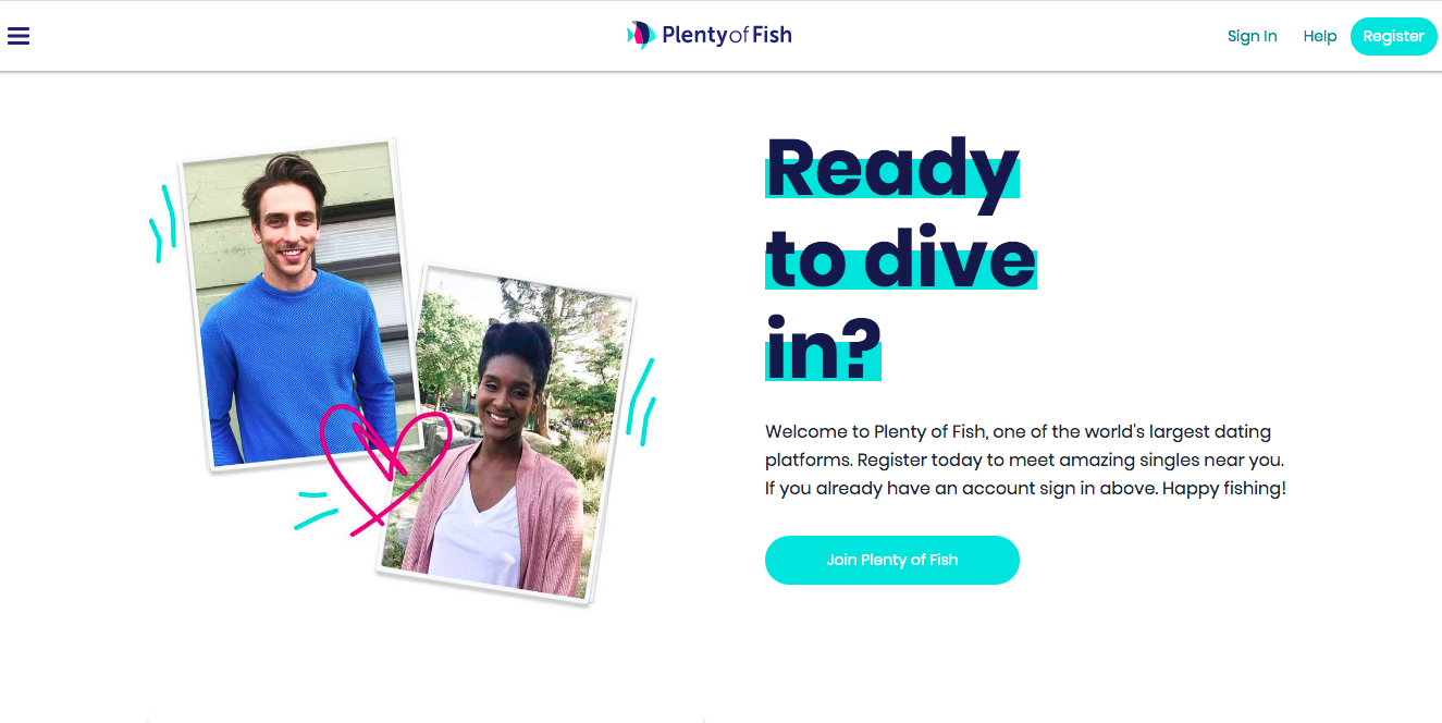 PlentyOfFish main page